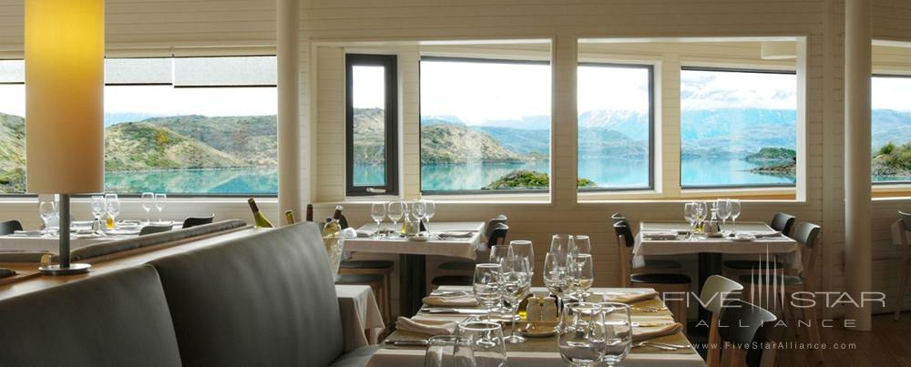 Dining with a view of Lake Pehoe atExplora Patagonia, Chile