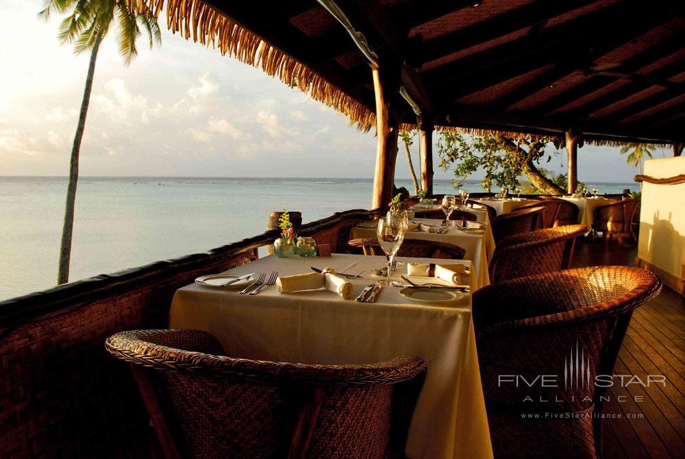 Rapae restaurant at Pacific Resort Aitutaki