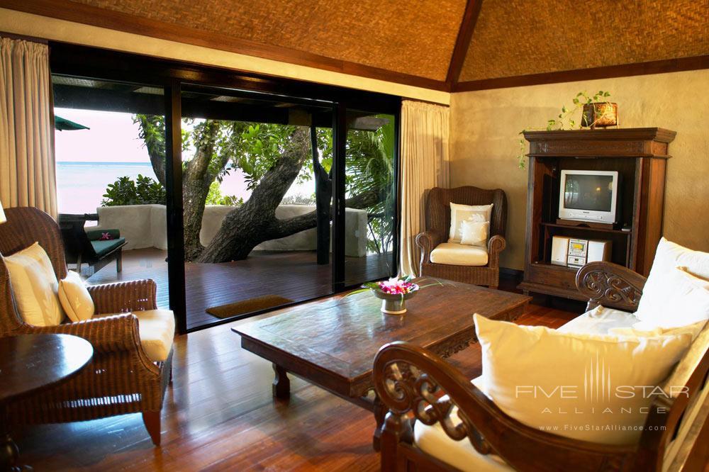 Beachfront Bungalow Lounge at Pacific Resort Aitutaki