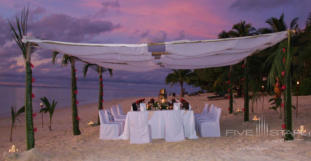 Outdoor event space at Pacific Resort Aitutaki