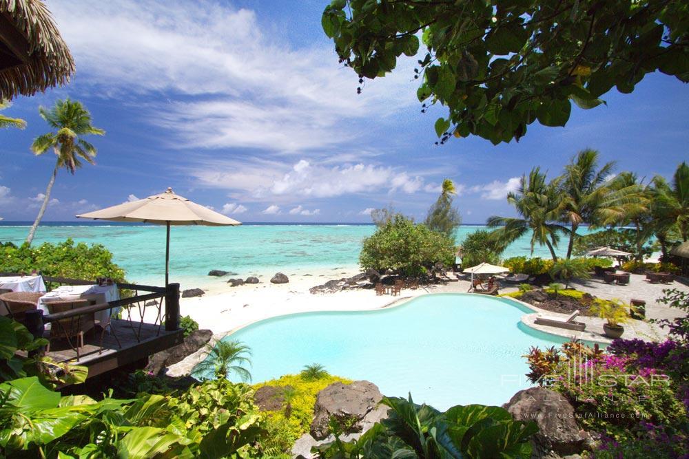 Poolside at Pacific Resort Aitutaki