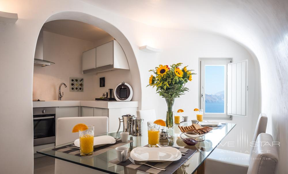 Premier Suite Kitchen at the Elite Luxury Suites Santorini
