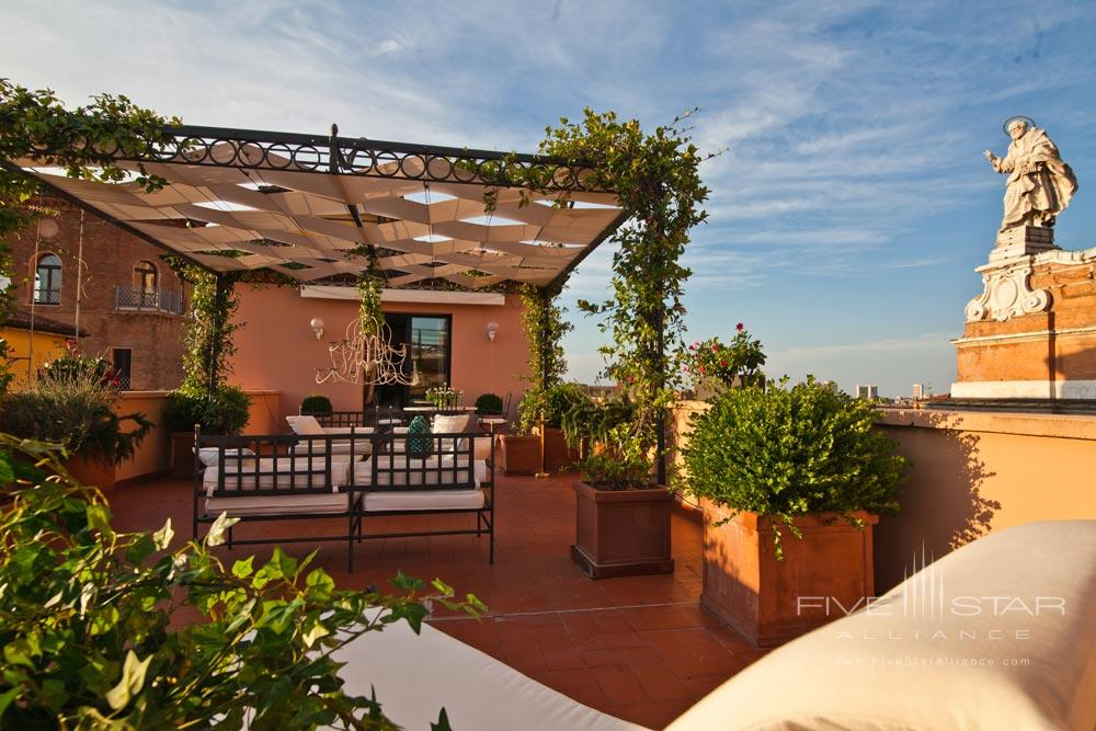 Terrace Lounge at Grand Hotel Majestic Gia Baglioni, Bologna, Italy