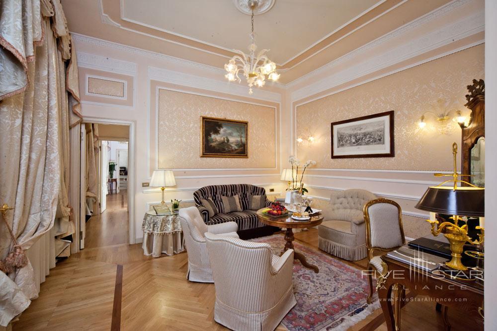 Suite Lounge at Grand Hotel Majestic Gia Baglioni, Bologna, Italy