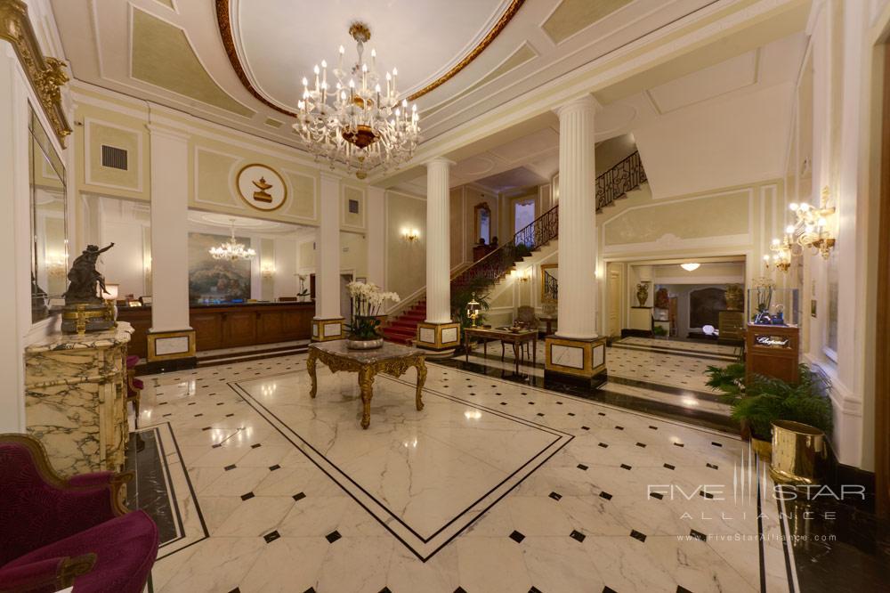 Lobby of Grand Hotel Majestic Gia Baglioni, Bologna, Italy