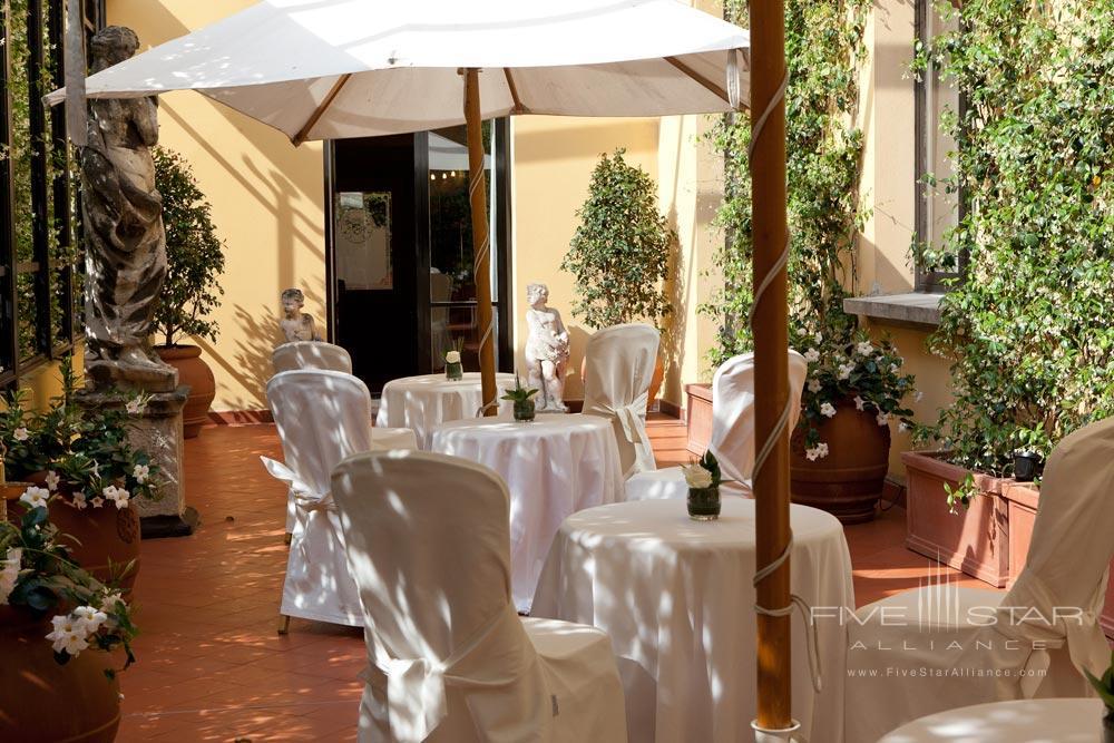 Terrace Dining at Grand Hotel Majestic Gia Baglioni, Bologna, Italy