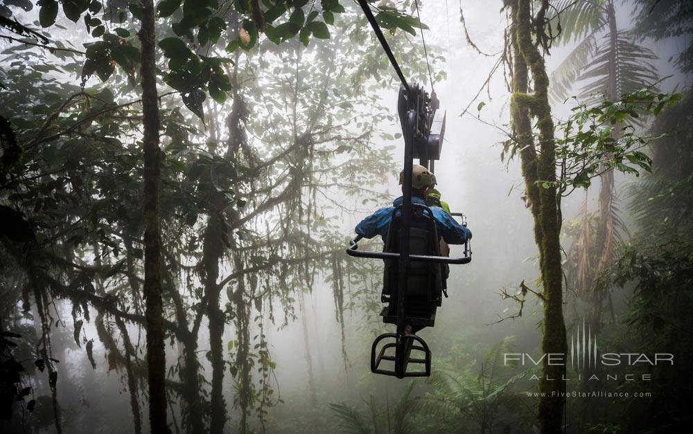 Enjoy a bike ride in The Choco Rainforest located in the Pichincha Province Mashpi Lodge, Ecuador