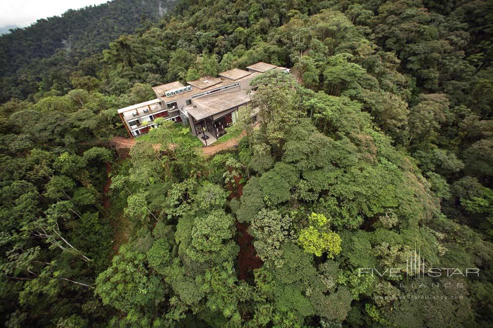 Aerial of Mashpi Lodge, Ecuador
