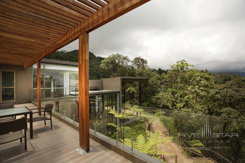 Hotel Terrace at Mashpi Lodge, Ecuador