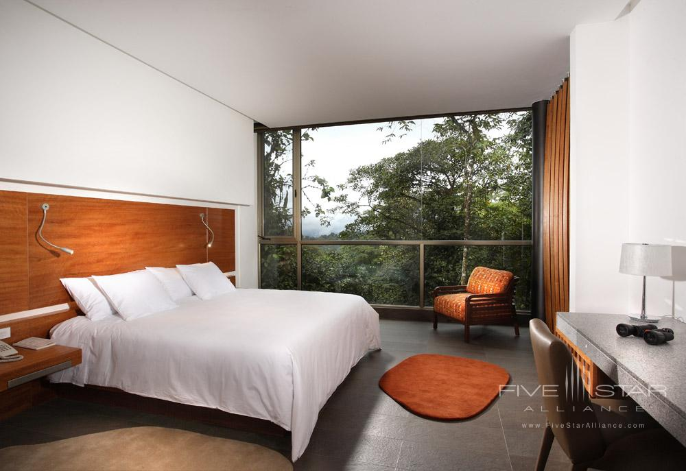 Wayra King Guest Room at Mashpi Lodge, Ecuador