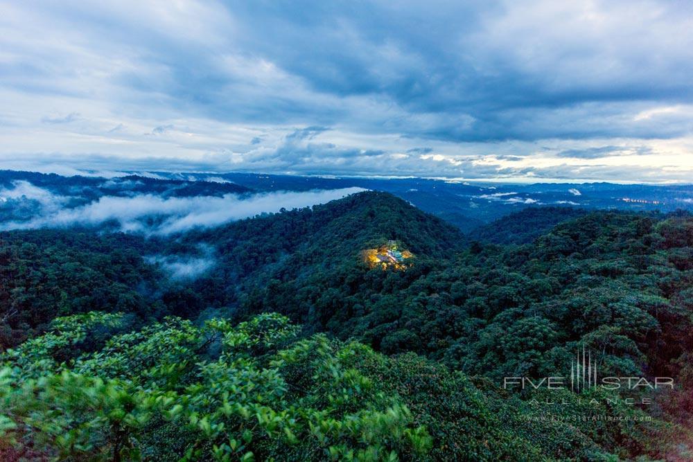 Air View of Hotel Mashpi Lodge, Ecuador