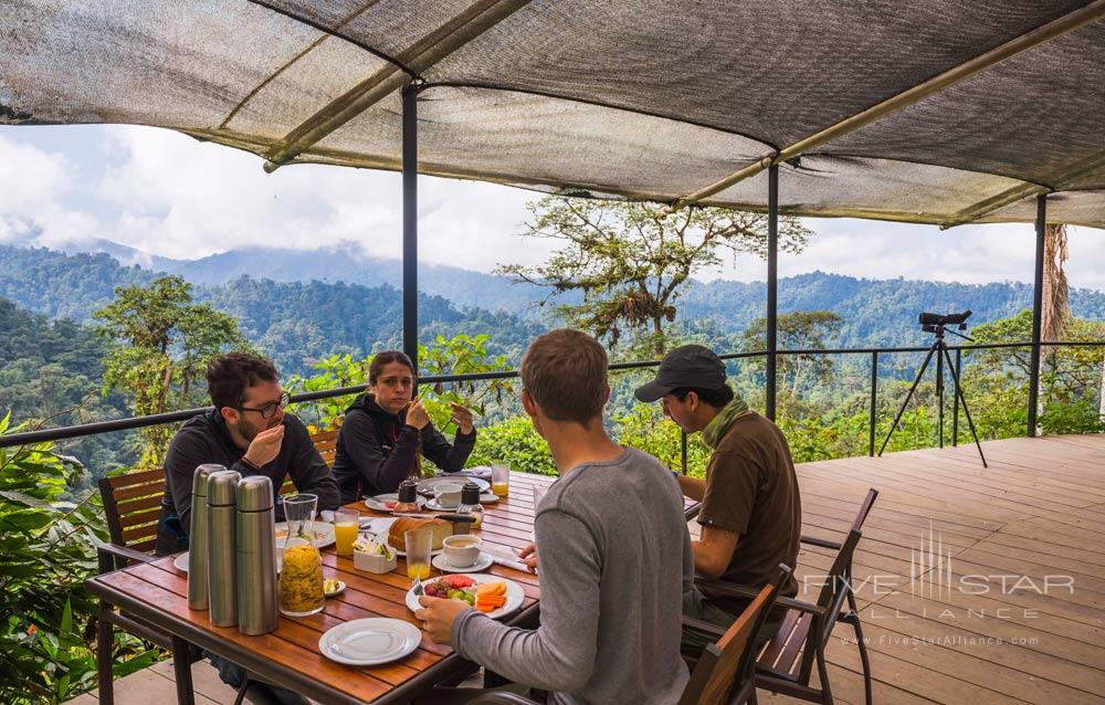 Breakfast at The Sky Life CentreMashpi Lodge, Ecuador