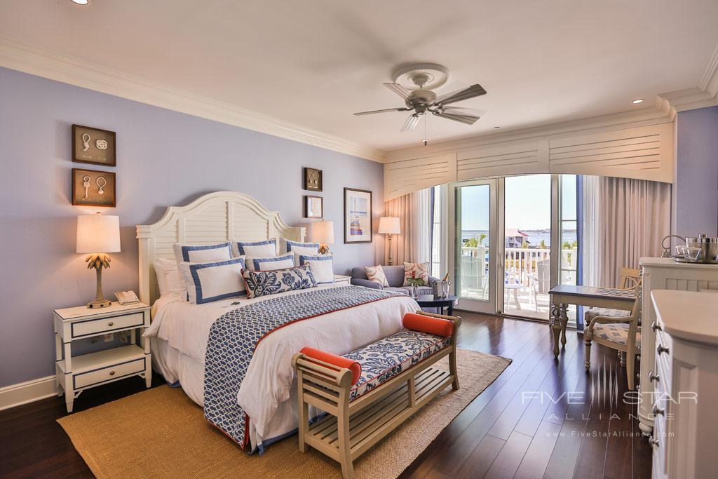 Guest room at The Beach Club at Charleston Harbor
