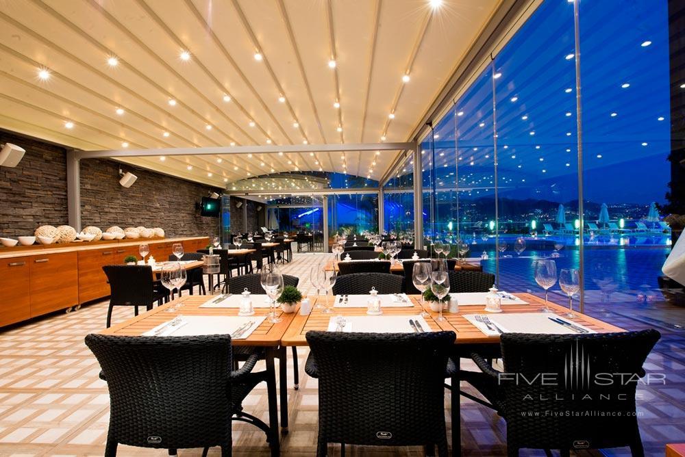 Dining at Avantgarde Yalikavak Hotel, Turkey