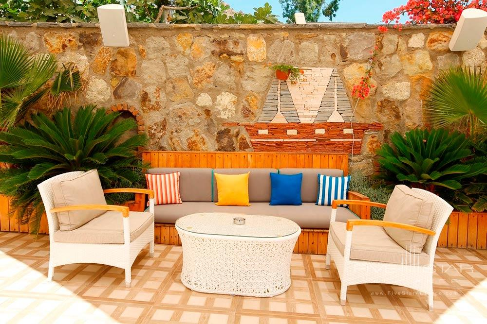 Patio Lounge at Avantgarde Yalikavak Hotel, Turkey