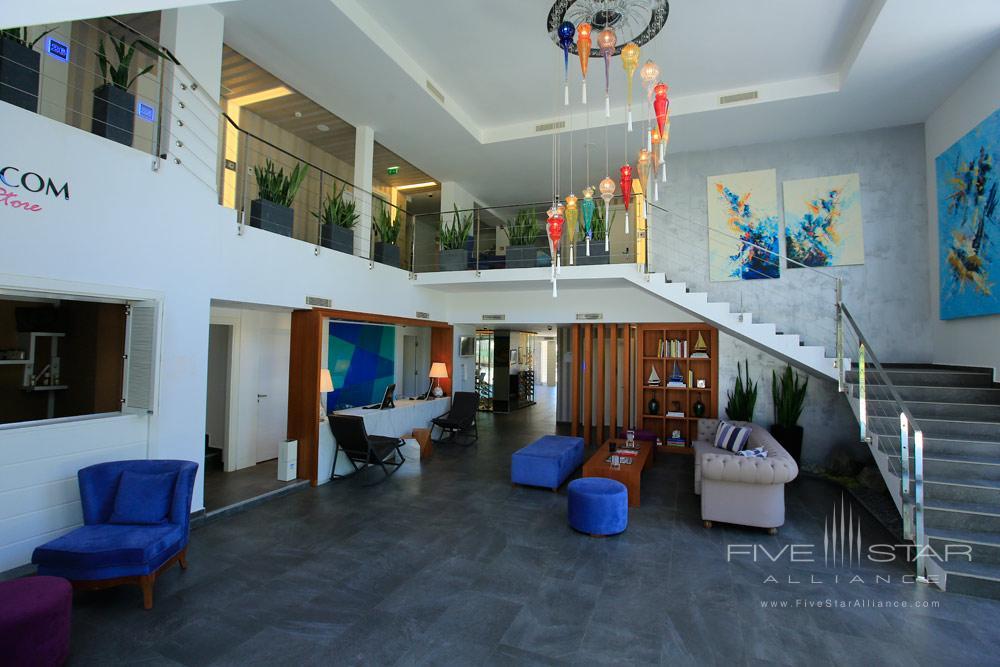 Lobby of Avantgarde Yalikavak Hotel, Turkey