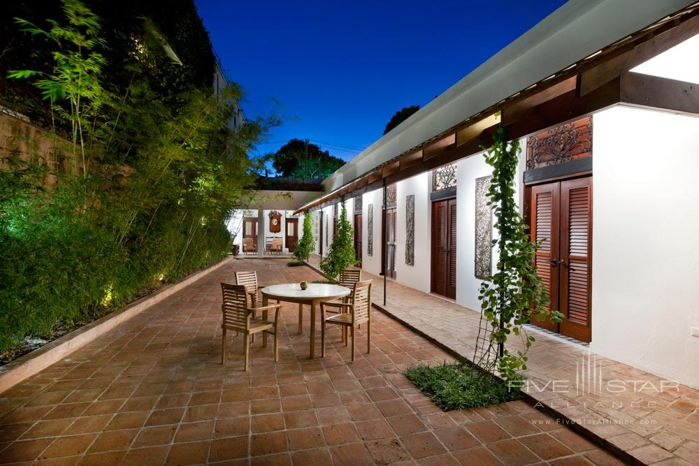 Patio Lounge at Casas del XVI, Santo Domingo, Dominican Republic