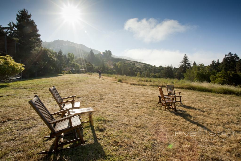 Rocking chairs at Ventana Big Sur