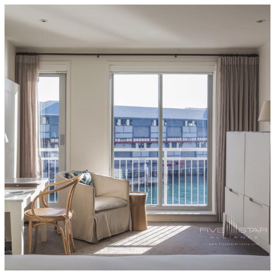 Built on and over the water, amazing guest room views at the Pier One Sydney Harbour Hotel
