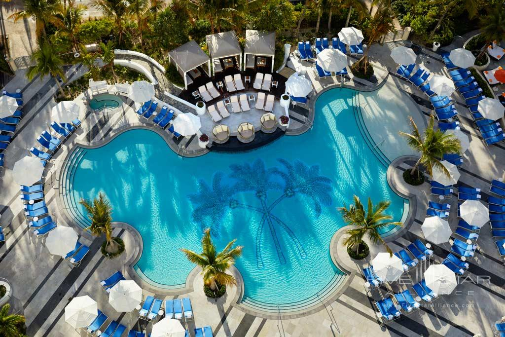 Outdoor Pool and Lounge at Loews Miami Beach Hotel, Miami Beach, FL