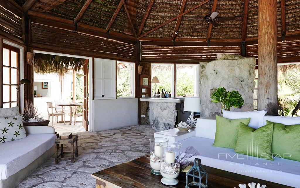 Lounge of Kamalame Cay, Andros, The Bahamas