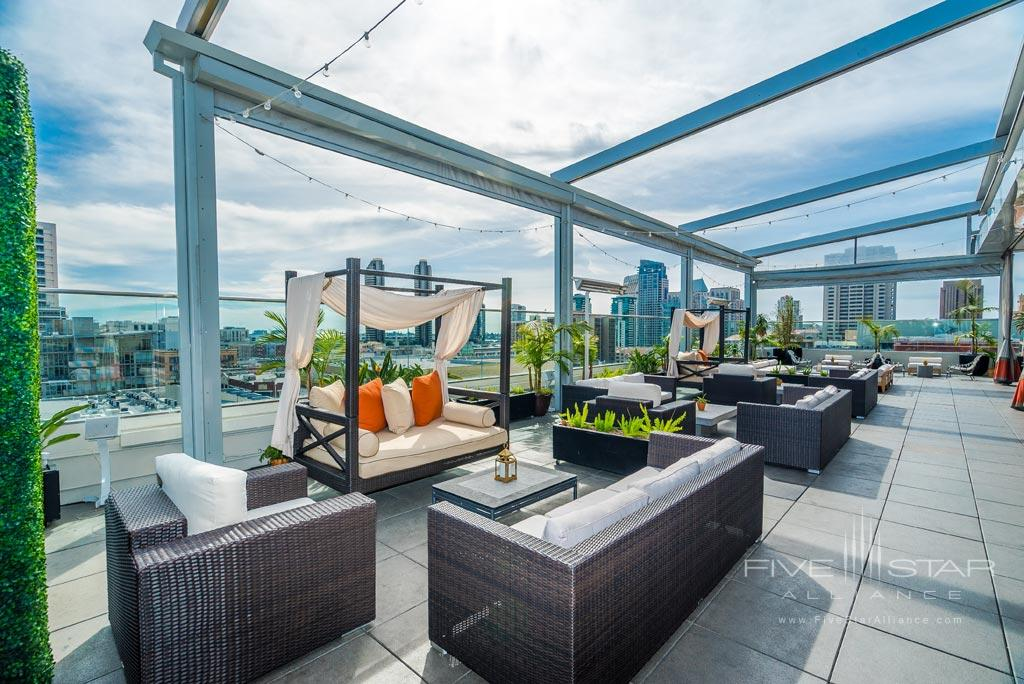 Rooftop Lounge at Andaz San Diego, CA