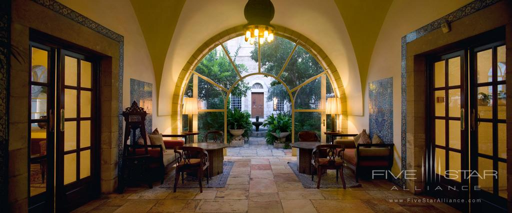 Entrance to American Colony Hotel, Jerusalem, Israel