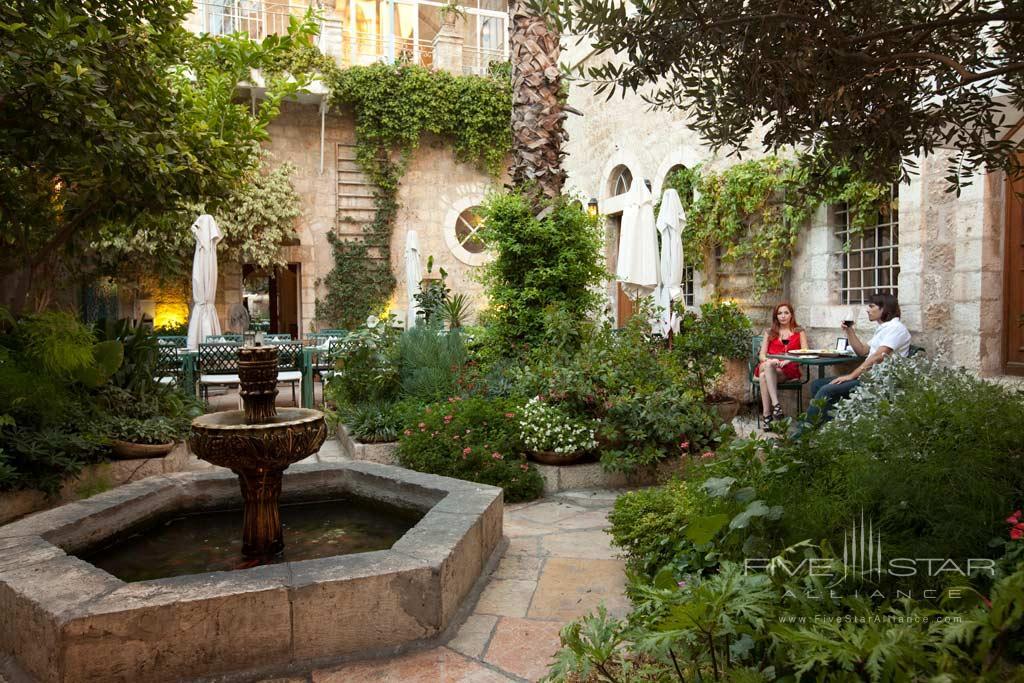 Courtyard at American Colony Hotel, Jerusalem, Israel