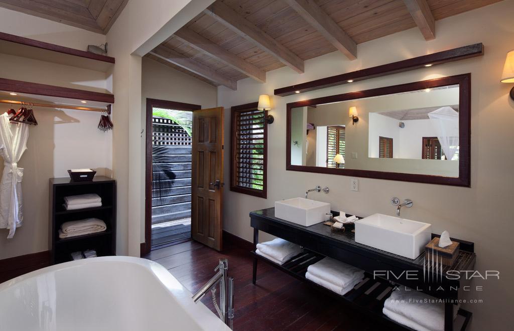 Guest Bath at Hermitage Bay, Antigua & Barbuda