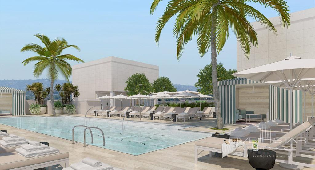 Rooftop Pool at Waldorf Astoria Beverly Hills, CA