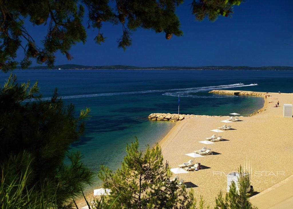 Beach at Radisson Blu Resort Split, Croatia