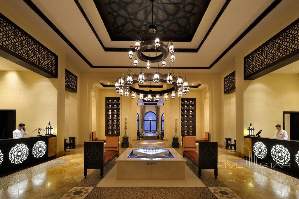 Reception at Qasr Al Sarab Desert Resort by Anantara, United Arab Emirates