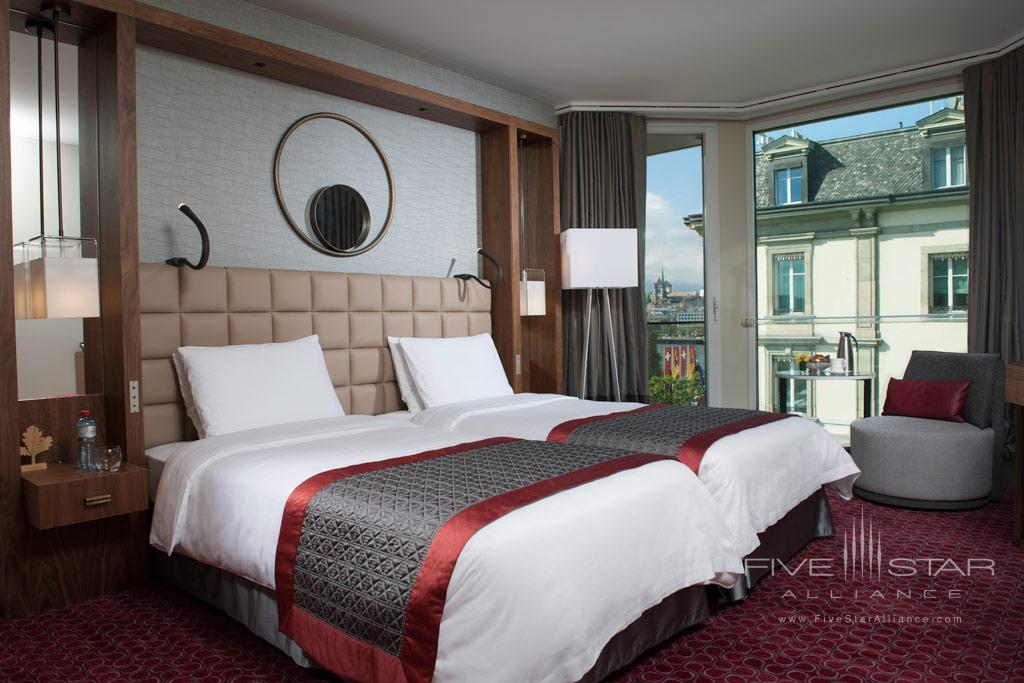 Premium Partial Lake View Guest Room at Grand Hotel Kempinski Geneva, Switzerland