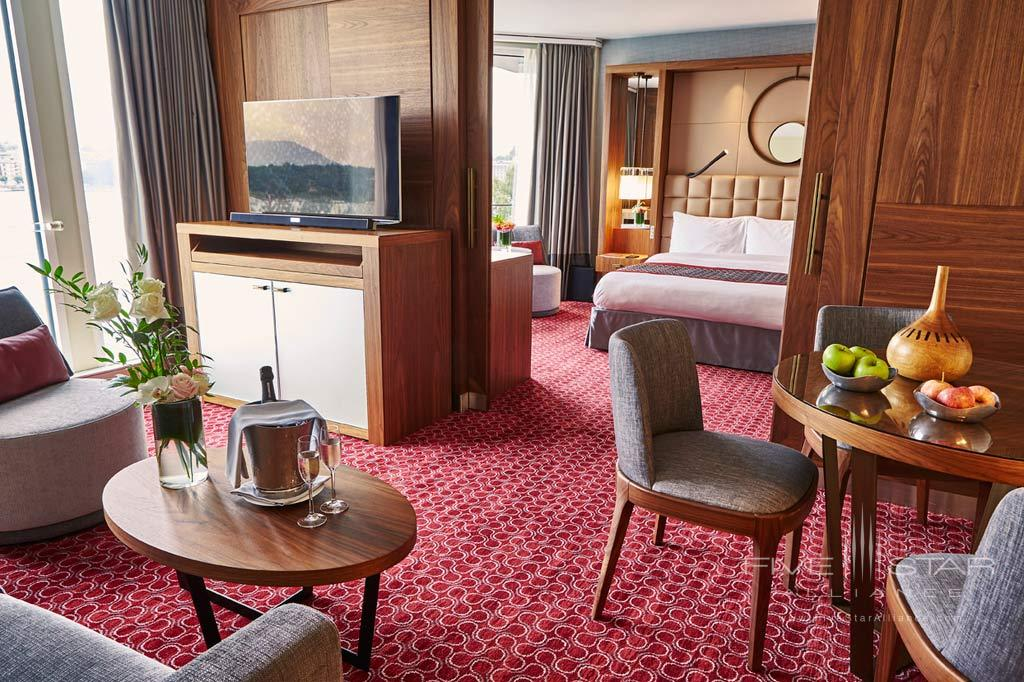 Executive Suite Lake View Lounge at Grand Hotel Kempinski Geneva, Switzerland