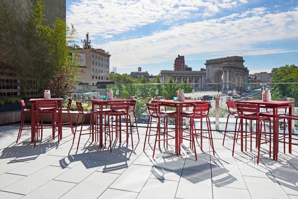 Terrace Lounge with Views at Hotel 50 Bowery, New York, USA