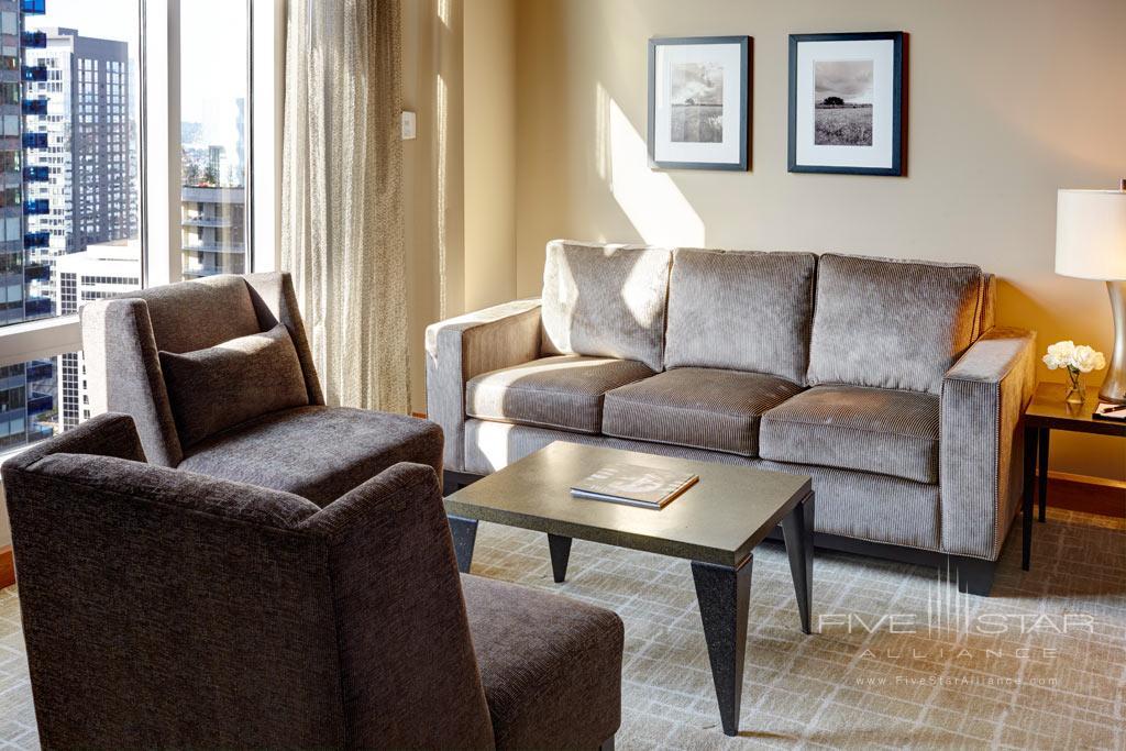 Suite Living Room at Grand Hyatt Seattle, WA