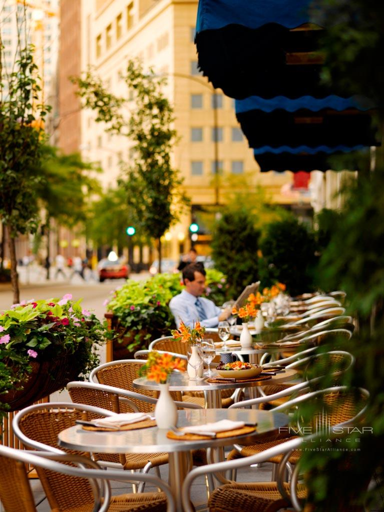 Outdoor Patio at The Peninsula Chicago, IL
