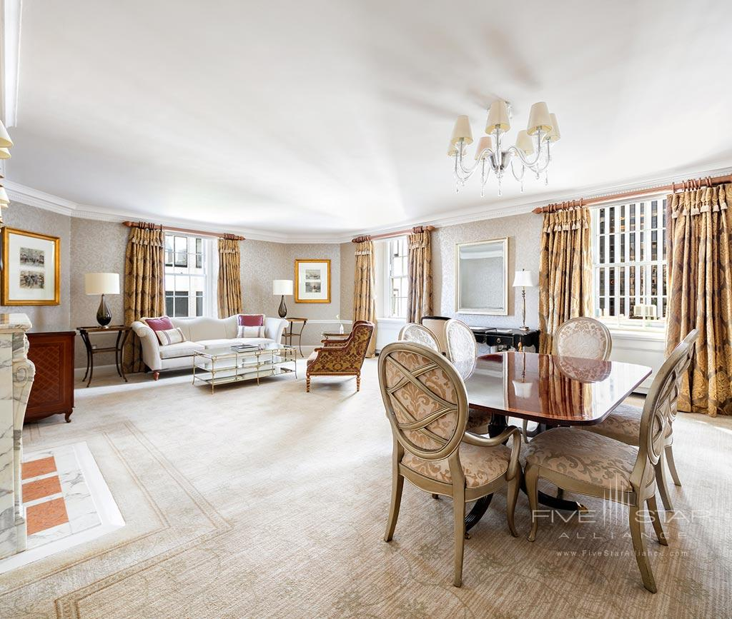 Suite Living at The Pierre Hotel New York, United States