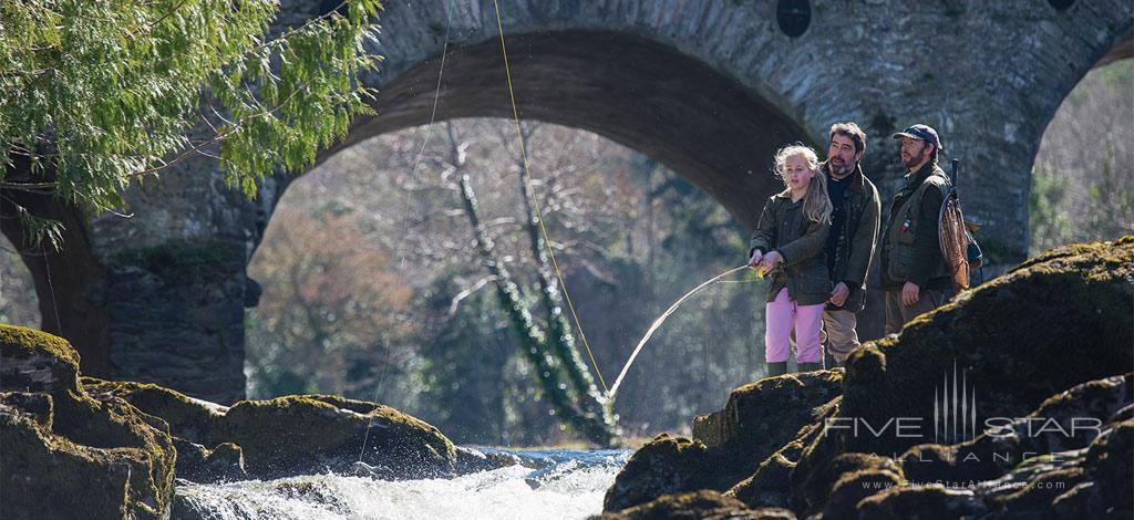 Fishing at Sheen Falls Lodge, Kerry County, Ireland