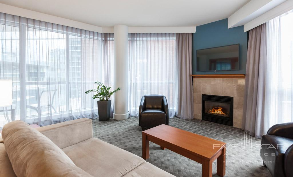 Executive Suite Living Room at Hotel Le Crystal, Montreal, Quebec, Canada