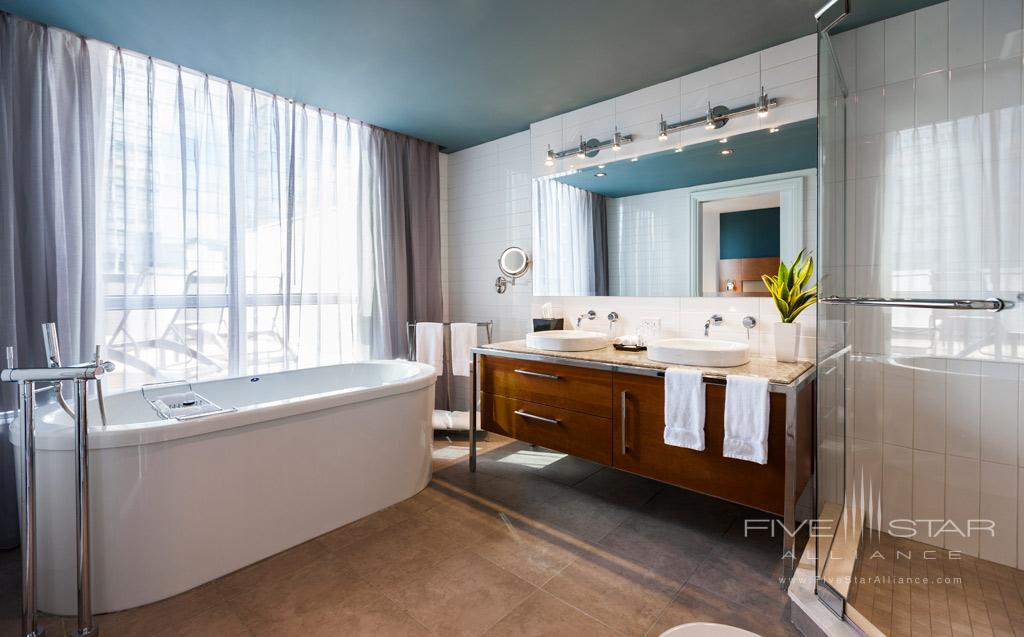 Penthouse Suite Bath at Hotel Le Crystal, Montreal, Quebec, Canada