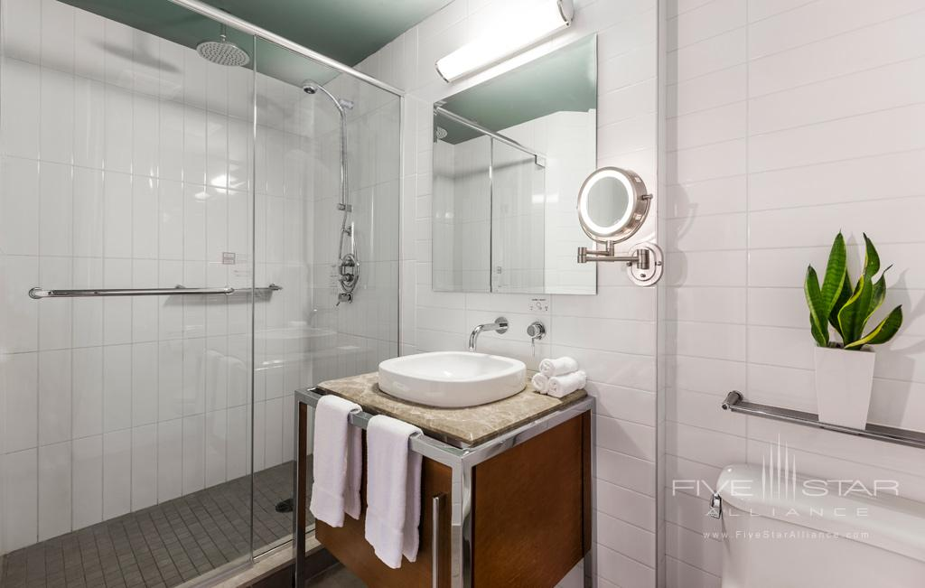 Premium Double Queen Bath at Hotel Le Crystal, Montreal, Quebec, Canada
