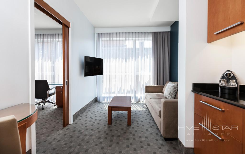 Superior Queen Suite Living Room at Hotel Le Crystal, Montreal, Quebec, Canada