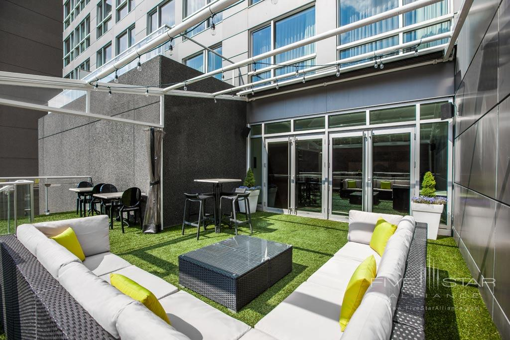 Third Floor Terrace at Hotel Le Crystal, Montreal, Quebec, Canada
