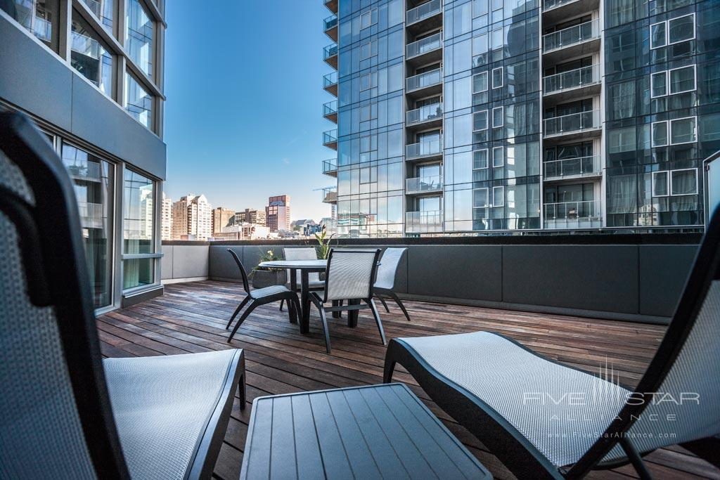 Penthouse Terrace Suite at Hotel Le Crystal, Montreal, Quebec, Canada