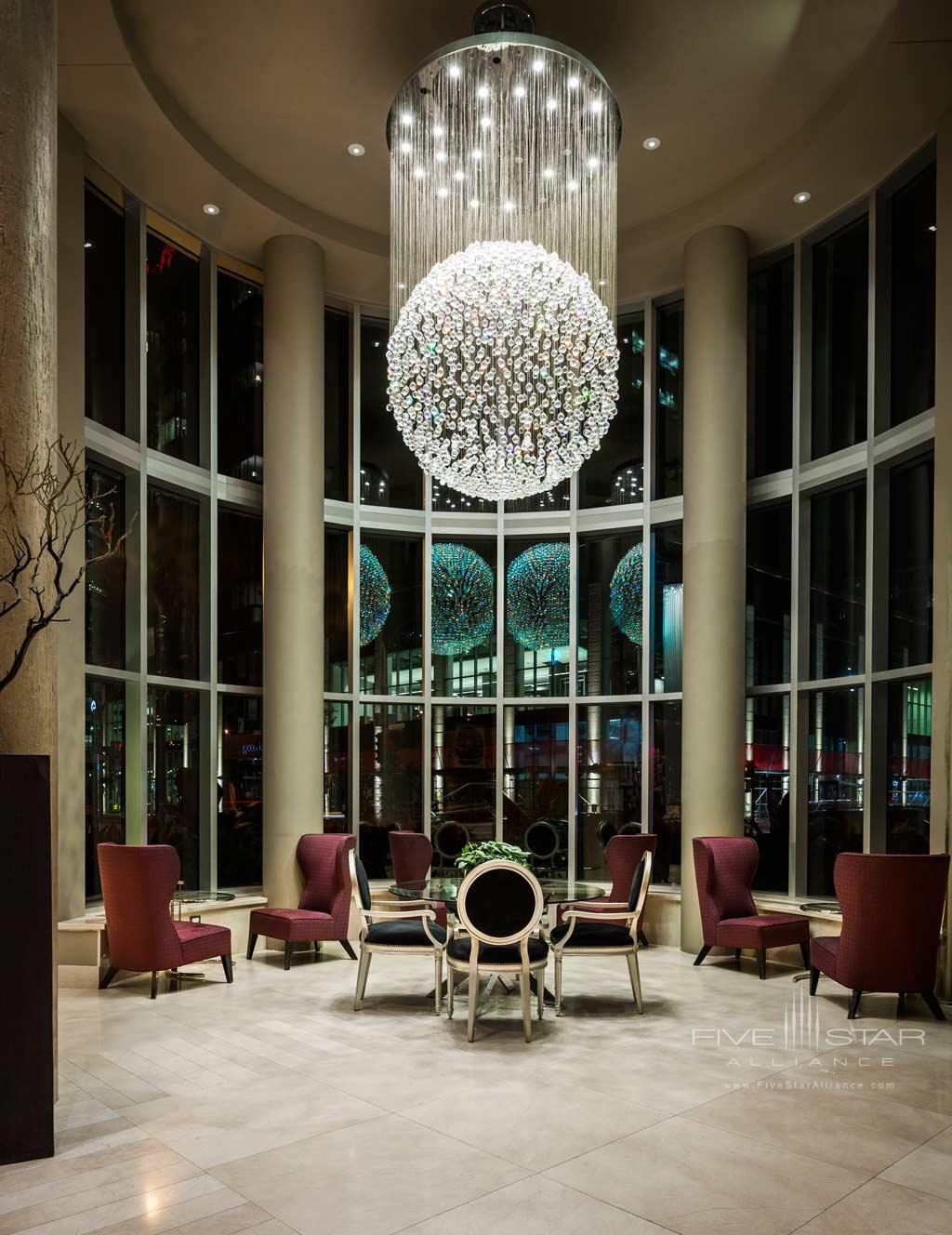 Lobby of Hotel Le Crystal, Montreal, Quebec, Canada