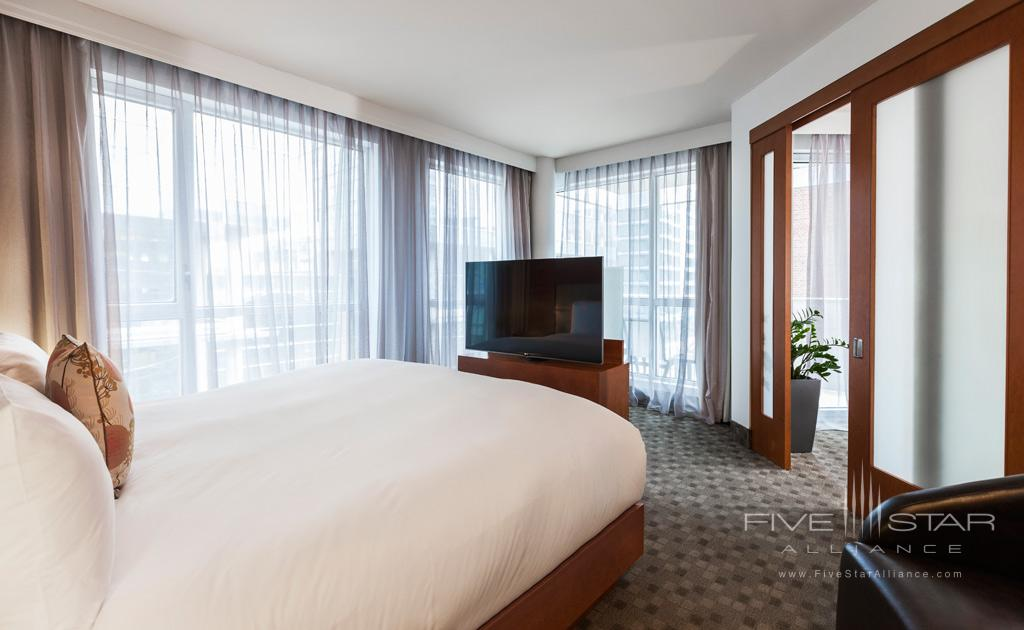 Executive King Guest Room at Hotel Le Crystal, Montreal, Quebec, Canada