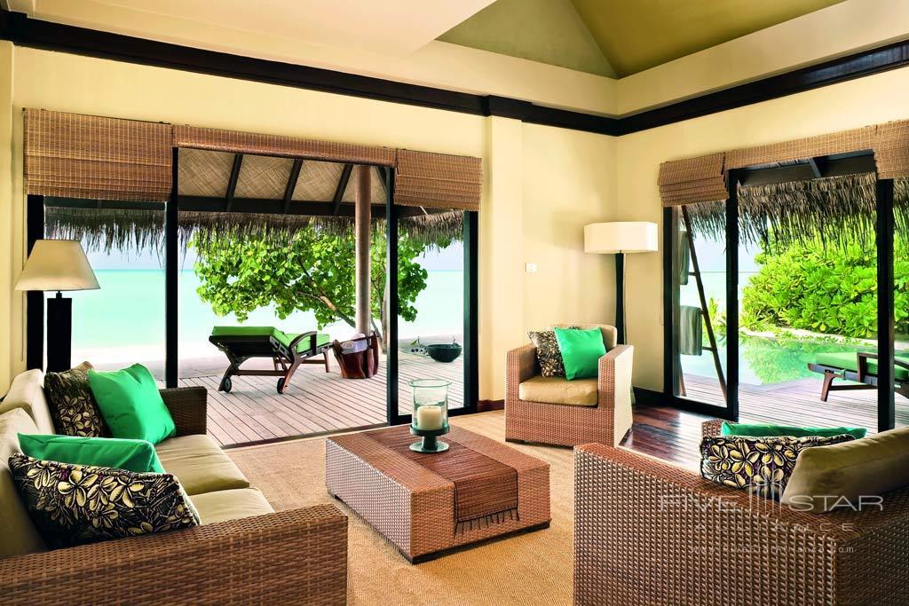 Beach Villa Suite Living Room at Taj Exotica Resort and Spa, Male, Maldives