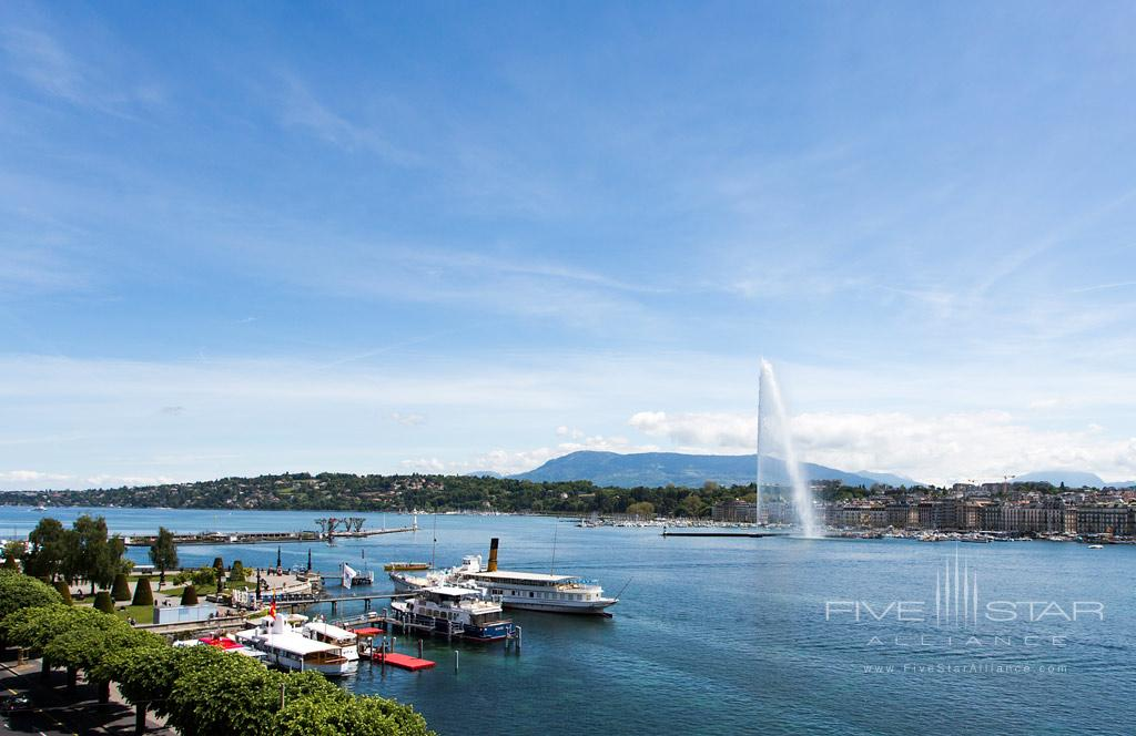 Lake Leman Views, Hotel de la Paix Geneva, Geneve, Switzerland