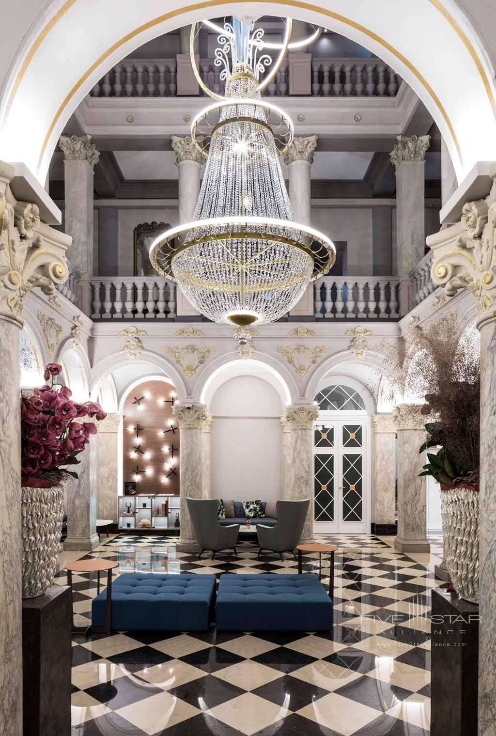 Lobby of Hotel de la Paix Geneva, Geneve, Switzerland